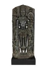 Indian Black Stone Figure of Vishnu