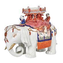 Asian Glazed Porcelain Elephant