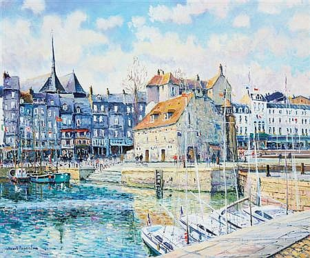 Yetvart Kaprielian French, b. 1959 Le Vieux Bassin, Honfleur