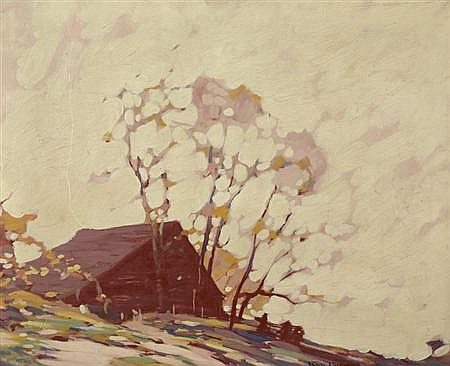 Roy Henry Brown American, 1879-1956 Evening, New Hampshire
