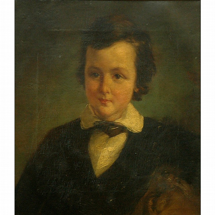 American School 19th Century Portrait of a Young Boy