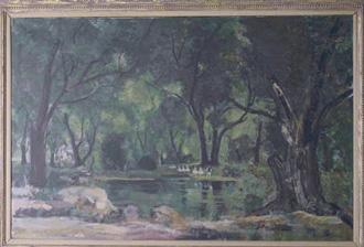 Bernard Lamotte French, 1903-1983 MELODY AT DUSK, inspired by Tchaikovskys Swan Lake