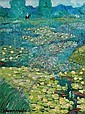 Johannes Schiefer American/Dutch, 1896-1979 Lily Pond, Johannes Schiefer, Click for value