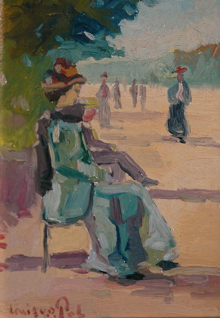 Louis van der Pol Dutch, 1896-1982 Afternoon at the Park