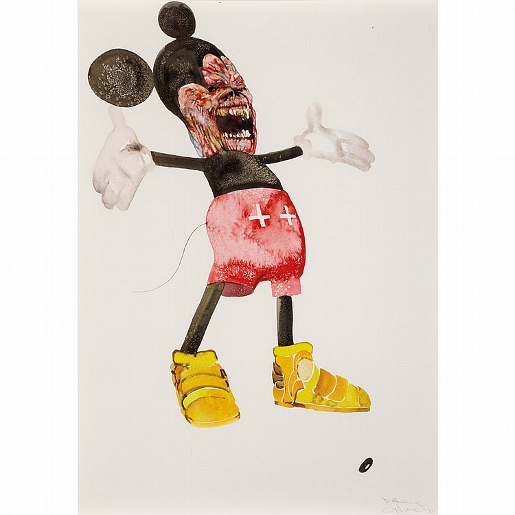 David Choe Untitled, 2010   Signed Dave Choe and dated '10 (lr) Watercolor on paper 23 3/8 x 17 5/8...