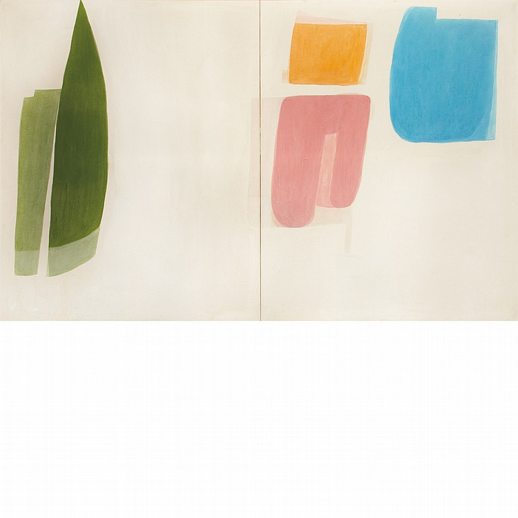 Simeon Braguin American, 1907-1997 Untitled, Parts 5 and 6: Diptych, 1970   Signed Simeon Braguin and dated...