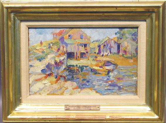 Margaret Lowengrund d. 1957 BOATHOUSE, GLOUCESTER, 1924