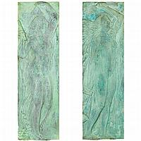 Pierre Marie Poisson French, 1876-1953 Allegories of Sculpture and Music: Two Each signed PM Poisson (lr)...