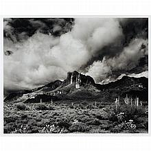 FORSTER, JODY (b. 1948) The Acropolis and storm, Superstition Mountains, Arizona, 1982. Gelatin silver print, 18 1/2 x 23 1/...