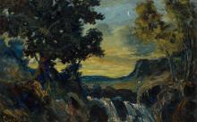 Louis Michel Eilshemius American, 1864-1941 Moonlit Landscape