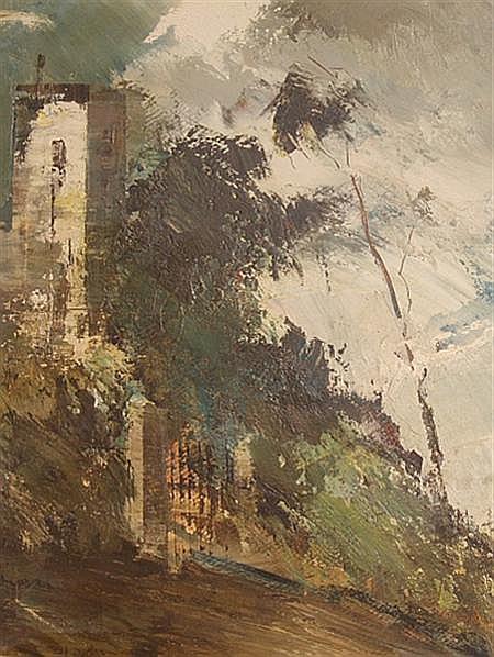 Ubaldo Magnavacca Italian, 1885-1957 View of a Town