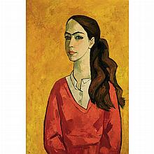 Oswaldo Guayasamin Ecuadorian, 1919-1999 Untitled Portrait