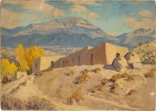 Sheldon Parsons American, 1866-1943 Santa Fe Baldy, from Nambe, New Mexico