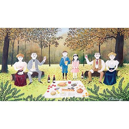 Fernand Boilauges French, b. 1891 Luncheon on the Grass