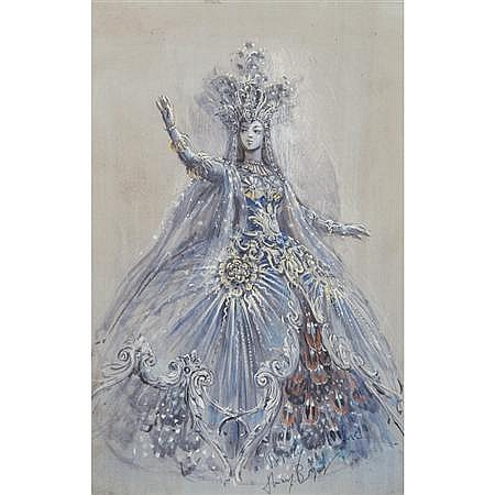 Thierry Bosquet Belgian, b. 1937 Costume Design for the Queen of the Night, in Mozart's