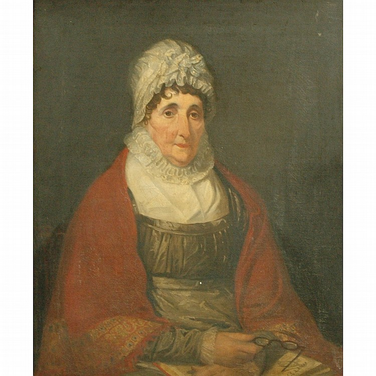 Anglo/American School 19th Century Portrait of Mrs. Priestley
