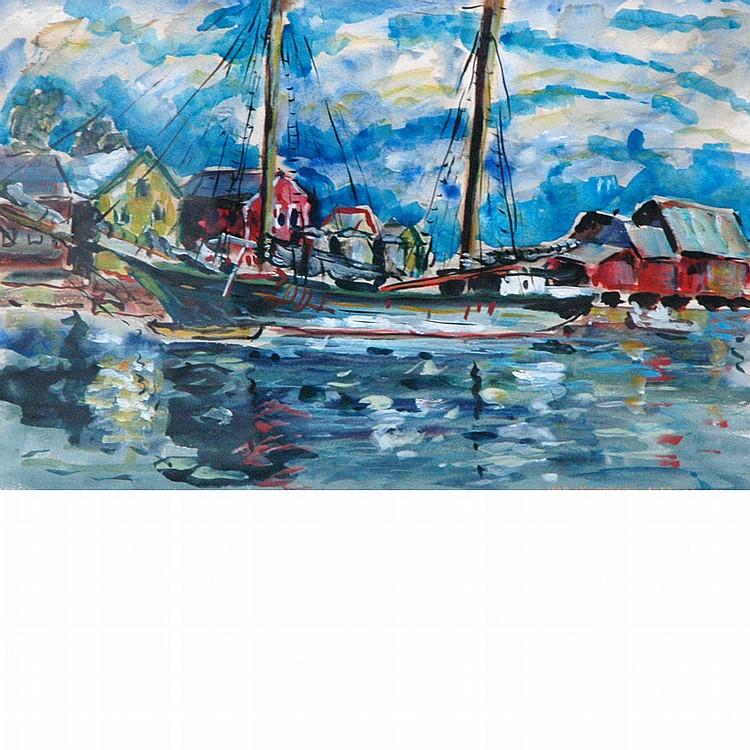 Ivan Le Lorraine Albright American, 1897-1983 Harbor, 1941