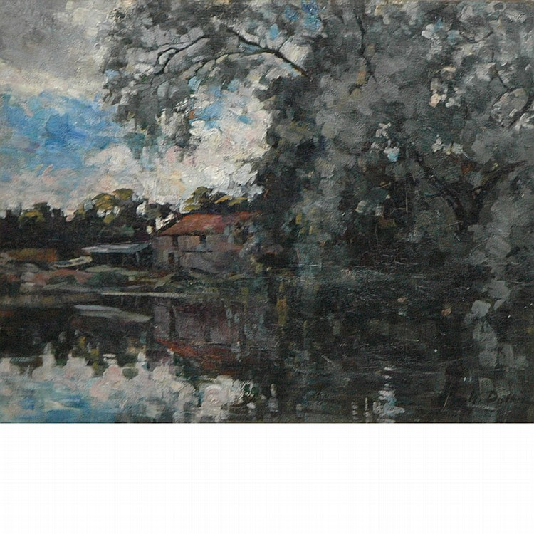 William Duthie Fl.1889-1894 River Reflections