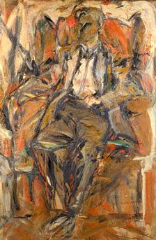 Elaine de Kooning American, 1920-1989 PORTRAIT OF WILLEM DE KOONING