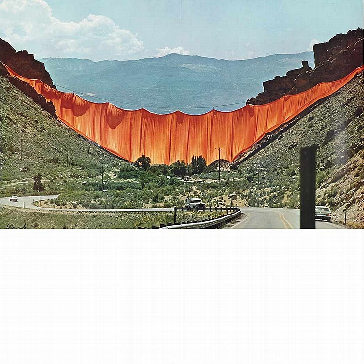 [CHRISTO AND JEAN CLAUDE] Unlimited color offset print,