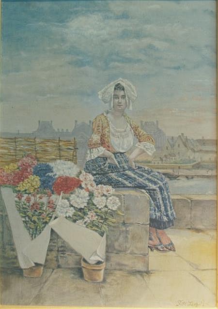 Leopold Till Austrian, 1830-1893 Marchande des Fleurs