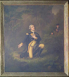 Lambert Sachs (1818-1903) and (possibly) Paul Gottlieb Daniel Weber (1823-1916) GEORGE WASHINGTON IN PRAYER AT VALLEY FORGE