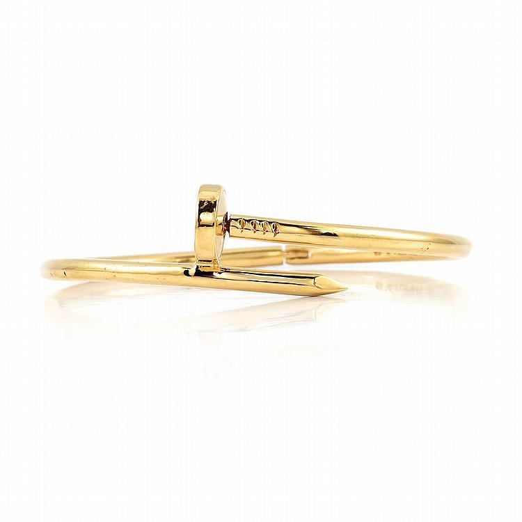 Gold Nail Head Bangle Bracelet, Aldo Cipullo