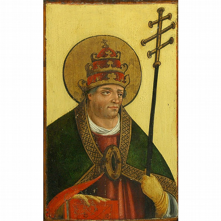 German School 15th Century Saint Gregory the Great: A Panel from a Polyptych