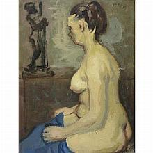 Moses Soyer American, 1899-1974 Model in the Artist's Studio