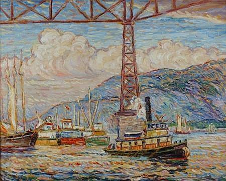Reynolds Beal American, 1867-1951 Poughkeepsie Railroad Bridge, 1930