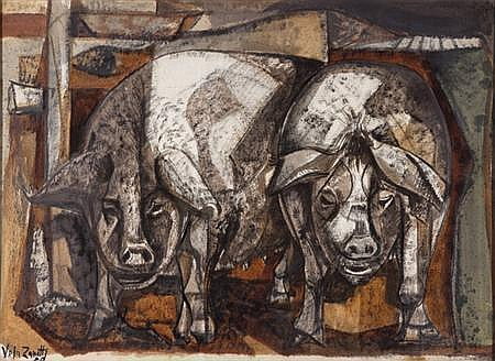 Jose Vela Zanetti Spanish, 1913-1995 Pigs