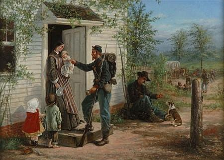 Thomas Nast American, 1840-1902 The Halt (The Drink of Water), 1864   Signed Th: Nast and dated 8/64 (...