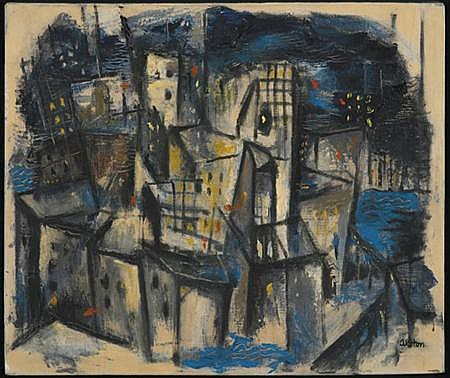 Charles Henry Alston Untitled (Abstract Cityscape)