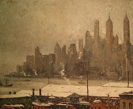 Harry Shokler American, 1896-1978 The Skyline, Lower Manhattan, 1932
