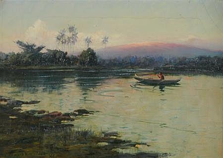 David Howard Hitchcock American, 1861-1943 Sunrise Glow on Mount Loa from Waialua River, Hilo