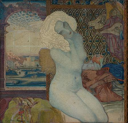 Walter Sigmund Hampel Austrian, 1868-1949 Study for ''Eve''