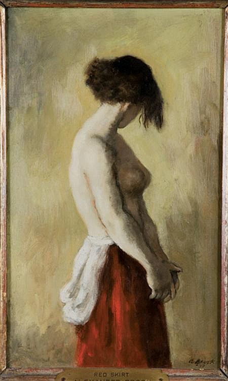 Alexander Brook American, 1898-1980 Nude in a Red Skirt, 1937
