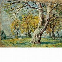 Andor Basch Hungarian, 1885-1944 Autumn Trees
