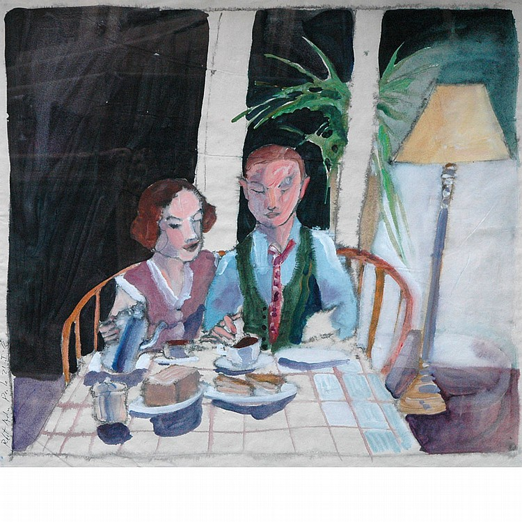 Robert Andrew Parker American, b. 1927 Couple at Breakfast, 1975