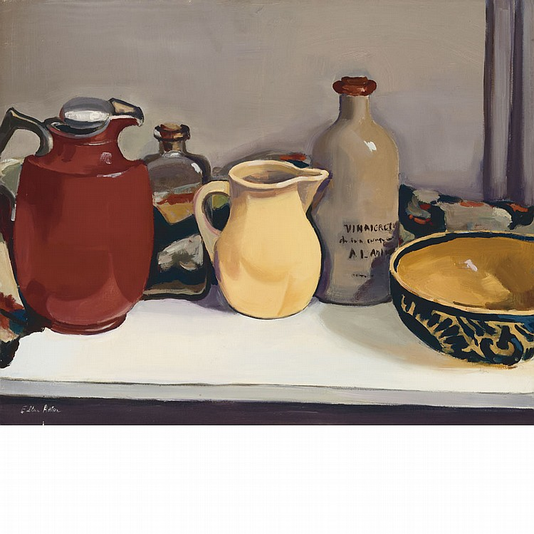 Ellen Adler American, b. 1927 Studio Shelf No. 2