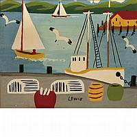 Maud Lewis Canadian, 1903-1970 The View from the Docks