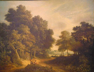 Robert Ladbrooke British, 1770-1842 FIGURES AT REST IN A WOODED LANDSCAPE