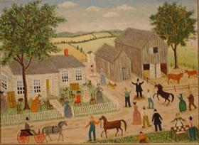 Albert Webster Davies American, 1889-1967 THE WEBSTER AUCTION, SALEM DEPOT, NEW HAMPSHIRE