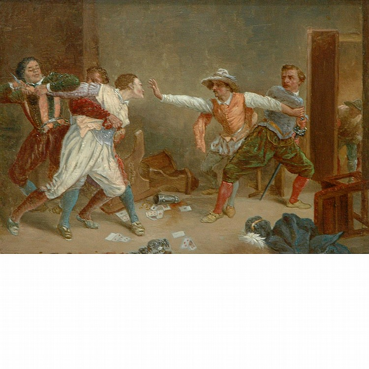 After Jean Louis Ernest Meissonier La Rixe (The Brawl)