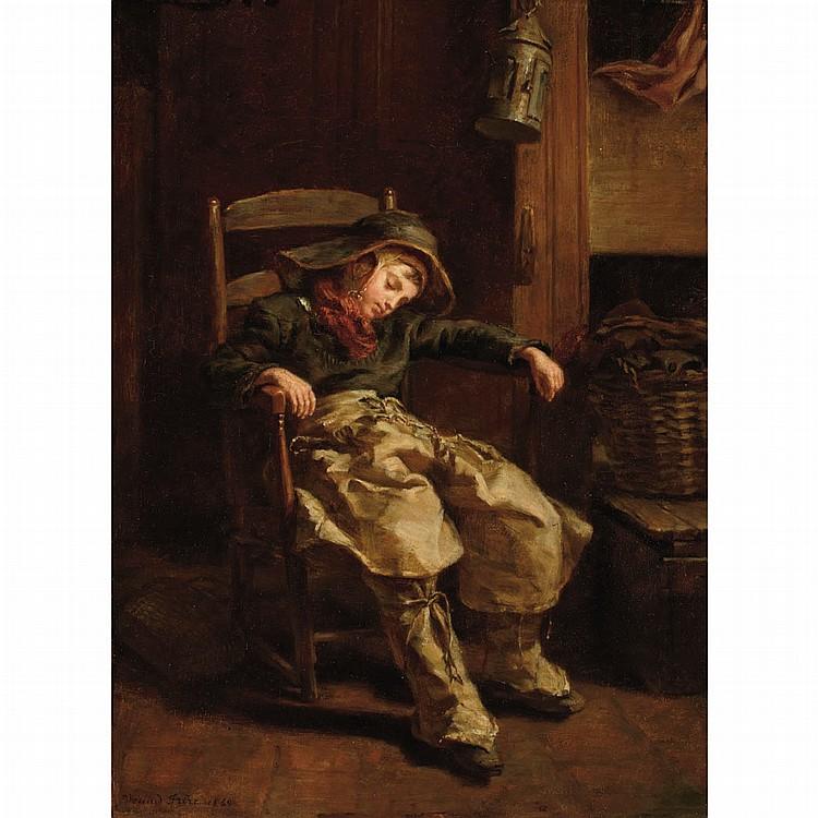 Pierre Edouard Frere French, 1819-1886 Sleeping Boy, 1860