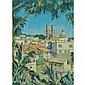 Victor de Lima 20th Century View of Taxco Mexico