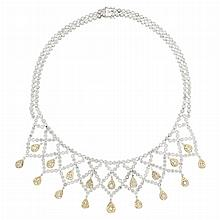 Two-Color Gold and Diamond Necklace