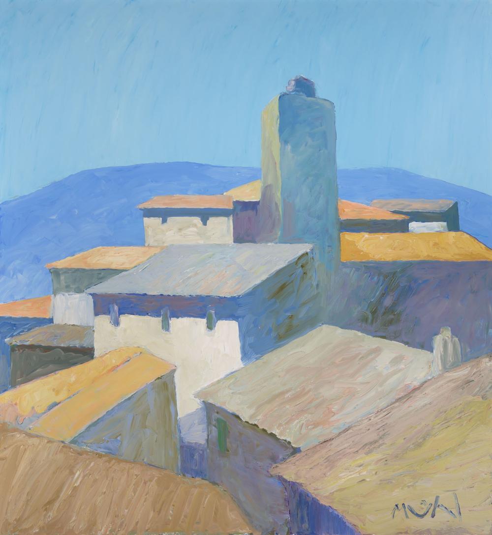 Roger Muhl French, 1929-2008 Village, 2002
