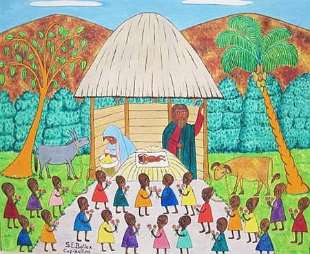 Seymour Bottex Haitian, b. 1918 Nativity Scene