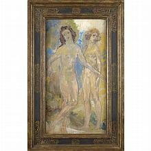 Arthur Bowen Davies American, 1863-1928 Female Figure Studies, 1910s